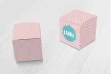 Vrolijk roze patroon