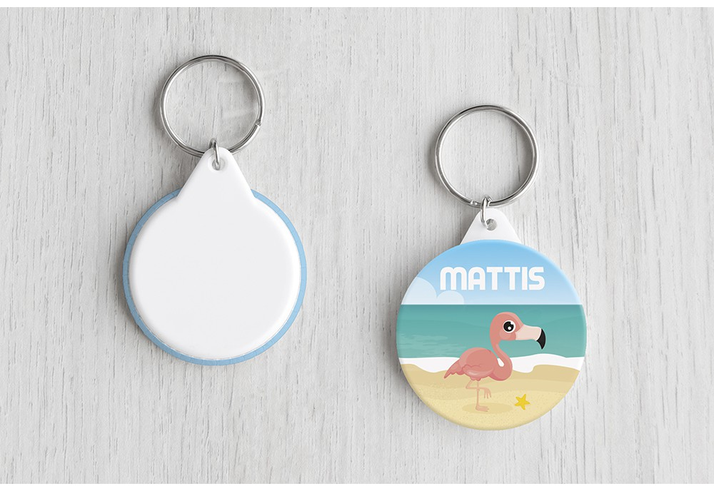 Flamingo op strand